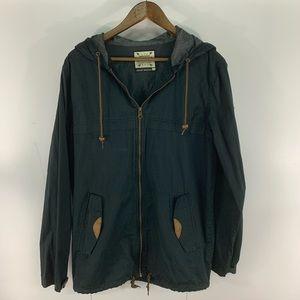 Dravus Jackets & Coats - Dravus Full Zip Black Hooded Windbreaker
